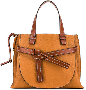 Loewe Gate Top Handle Small Bag in Caramel & Pecan | FWRD