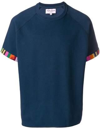 YMC patterned cuff T-shirt