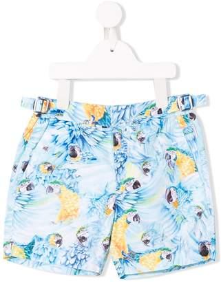 Orlebar Brown KIDS russel parrot shorts