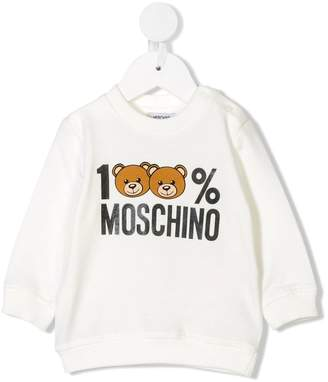 Moschino Kids teddy bear print sweatshirt