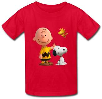 YZ Big Girls' Charlie Brown And Snoopy T Shirt For Kids S