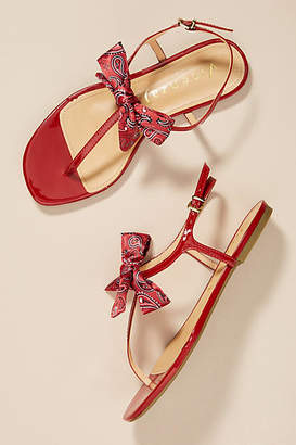 Vicenza Bandana Bow Thong Sandals