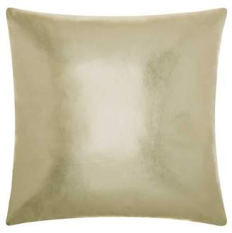 Nourison Couture Natural Hide Metallic Leather Light Gold Throw Pillow