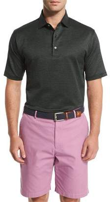 Peter Millar Hoy Pindot Short-Sleeve Polo Shirt, Black