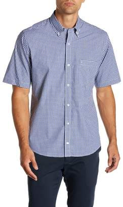 Tailorbyrd Gingham Short Sleeve Button Shirt