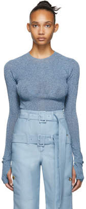 Lanvin Blue Metallic Sweater