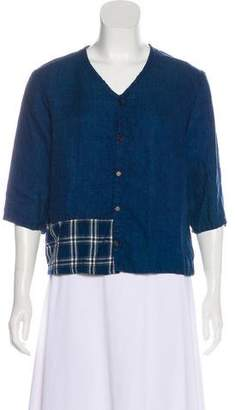 Cp Shades Linen Button-Up Blouse