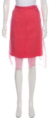 Dries Van Noten Silk Pencil Skirt