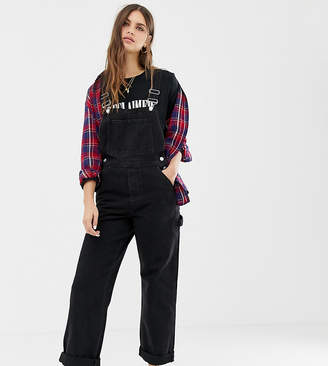 Reclaimed Vintage Inspired overall in washed black