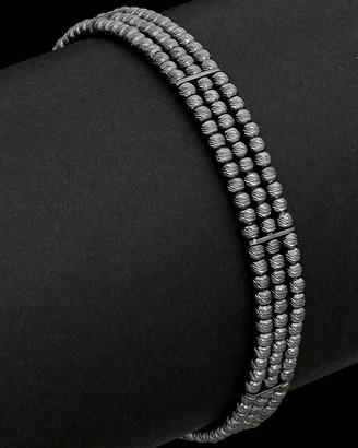 Italian Silver Plated Bead Bracelet