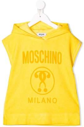Moschino Kids logo print hooded T-shirt