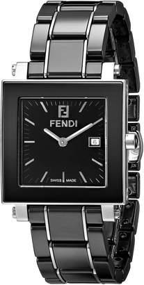 Fendi Women's F621110 Ceramic Analog Display Quartz Black Watch