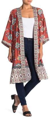 Daniel Rainn DR2 by Floral Print Kimono (Petite)