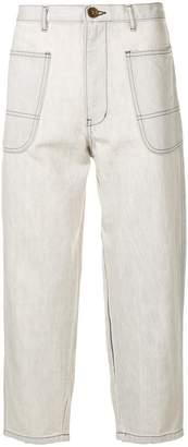Comme des Garcons cropped straight-leg jeans