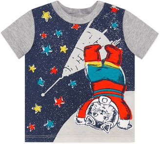 Baby cotton t-shirt with space cat print $135 thestylecure.com