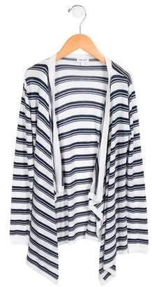 Splendid Girls' Striped Knit Cardigan