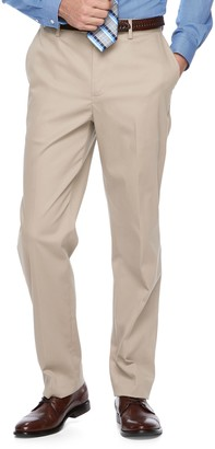Croft & Barrow Men's Classic-Fit Flat-Front No-Iron Stretch Khaki Pants
