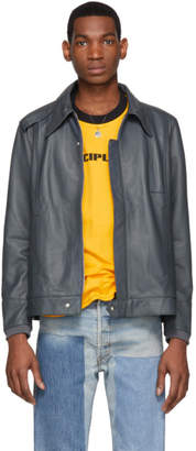 St-Henri SSENSE Exclusive Grey Lambskin Foundation Jacket