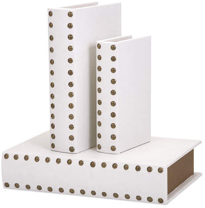 Mercer41 3 Piece White Book Box Set