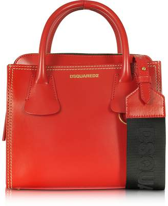 DSQUARED2 Deana Small Red Leather Satchel