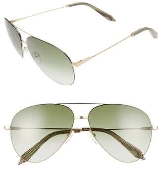 Victoria Beckham Classic Victoria Feather 62mm Aviator Sunglasses