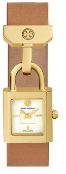 Tory BurchTory Burch Surrey Goldtone Stainless Steel & Leather Strap Watch