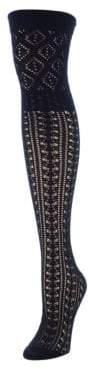 Me Moi Memoi Combed Cotton Blend Over-The-Knee Socks