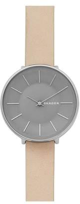Skagen Karolina Leather Strap Watch, 38mm