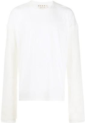 Marni oversized contrast sleeve sweater