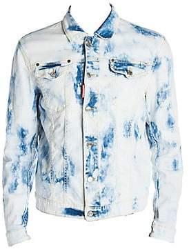 DSQUARED2 Men's Bleached Denim Jacket