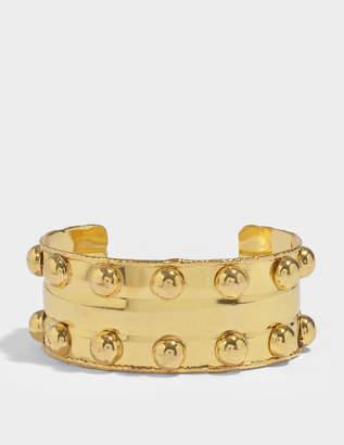 Byzantine Cuff Bracelet in Gold-Plated Brass