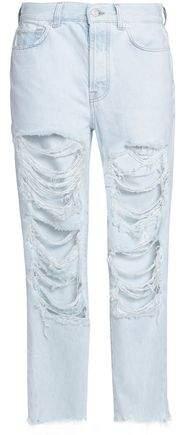 Josefina Cropped Distressed Boyfriend Jeans