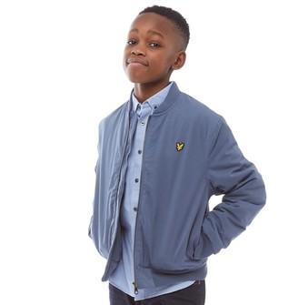 0f1ffa293 Lyle & Scott Junior Boys Smart Bomber Jacket Indigo Blue