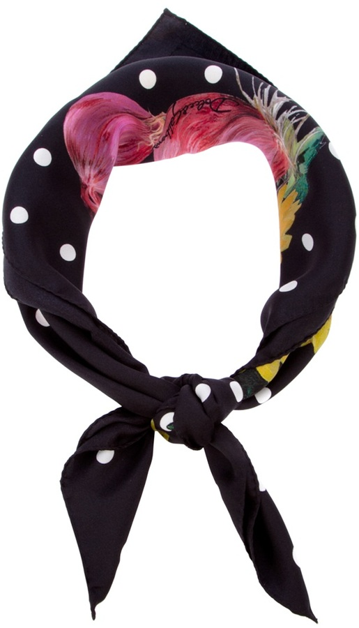 Dolce & Gabbana Onion print scarf
