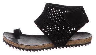 Pedro Garcia Suede Strap Sandals