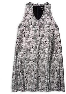 Flowers by Zoe Girl's Swirl-Foil Choker Dress