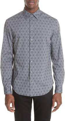 Emporio Armani Regular Fit Geometric Sport Shirt