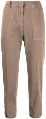 Peserico high waisted cropped trousers