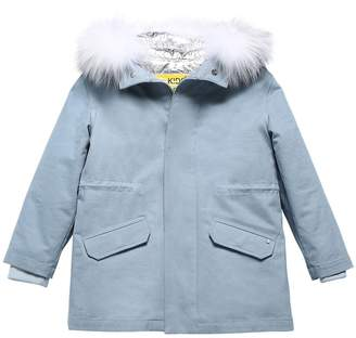 Yves Salomon Enfant COTTON GABARDINE PARKA W/ FUR