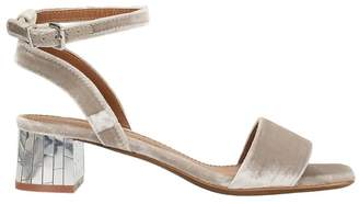 Lola Cruz Taupe Color Velvet Sandals