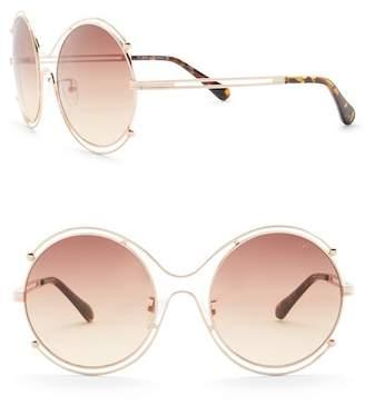 Diane von Furstenberg 58mm Round Sunglasses