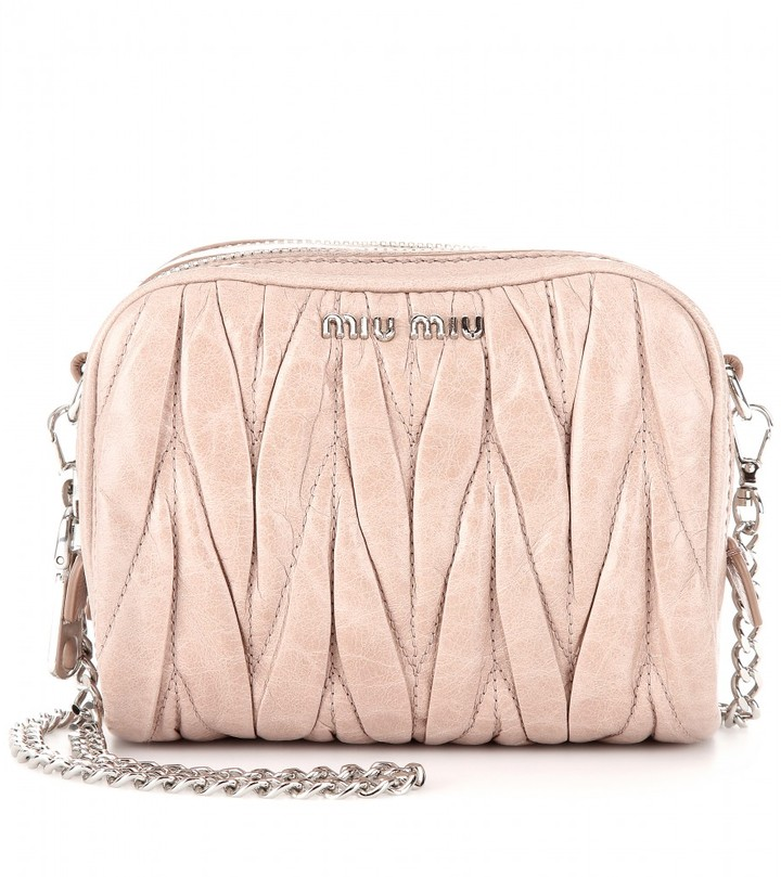 Miu Miu MATELASSÉ LEATHER MINI SHOULDER BAG