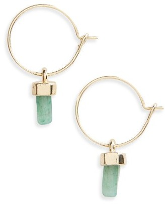 Women's Topshop Semiprecious Stone Hoop Earrings $15 thestylecure.com
