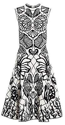 Alexander McQueen Women's Sleeveless Seashell Midi Dress