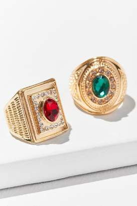 Urban Outfitters Collegiate Ring Set