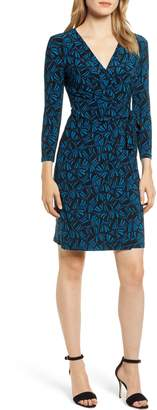 Anne Klein Josephine Print Faux Wrap Dress