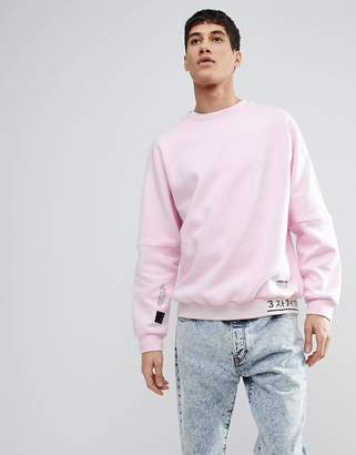 adidas NMD Sweat With Rib Detail In Pink CV5815