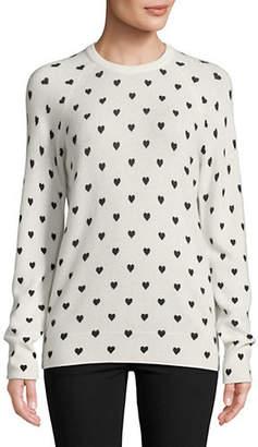 Equipment Sloane Heart-Print Cashmere Sweater