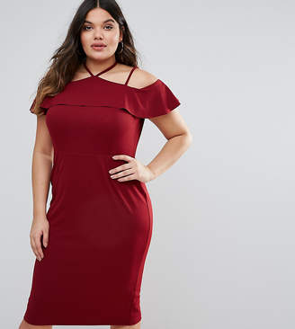 Asos Pencil Dress with Strap Shoulder Detail