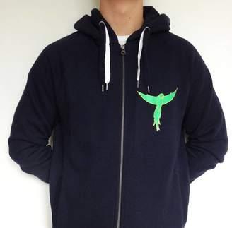 Sarah J Miller Ring Tailed Parakeet Hooded Zipup Sweatshirt